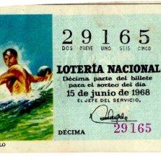Lotería Nacional - Lotería Nacional - Water polo - Deportes - nº 29165 - 15/06/1968 - 84940872
