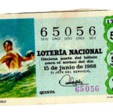 Lotería Nacional - Lotería Nacional - Water polo - Deportes - nº 29522 - 15/06/1968 - 84944540