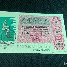 Lotería Nacional: LOTERIA NACIONAL 16 JUNIO 1979 . Lote 89081856