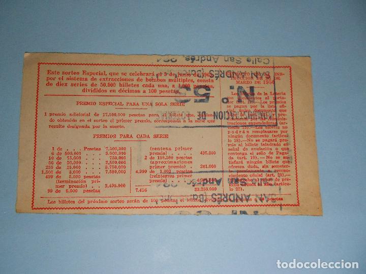 Lotería Nacional: BILLETE DE LA LOTERIA NACIONAL DEL 5 DE JUNIO DE 1965 (NOVENA SERIE) SAN MARCOS DE LEÓN - Foto 2 - 89523160