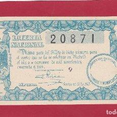 Lotería Nacional: LOTERIA NACIONAL SORTEO 28 DE 1943. Lote 89831972