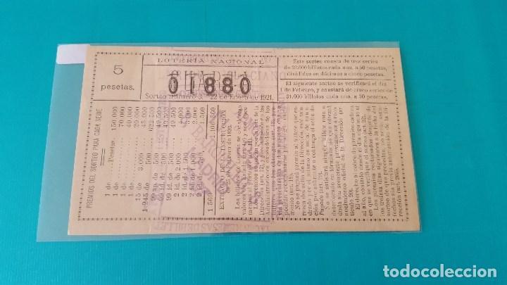 Lotería Nacional: Décimo de lotería del año 1921 sorteo nº 3 - Foto 2 - 91065280