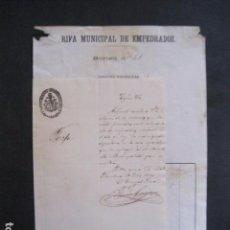 Lotería Nacional: LOTERIA RIFA MUNICIPAL EMPEDRADOS - BARCELONA - AÑO 1870 - ACTA -VER FOTOS-(V-11.778). Lote 91135825