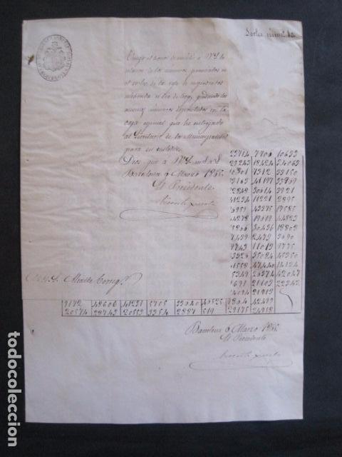 Lotería Nacional: LOTERIA SORTEO - BARCELONA - AÑO 1865 - ACTA -VER FOTOS-(V-11.779) - Foto 3 - 91136485
