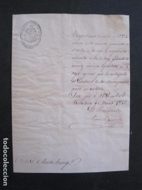 Lotería Nacional: LOTERIA SORTEO - BARCELONA - AÑO 1865 - ACTA -VER FOTOS-(V-11.779) - Foto 4 - 91136485