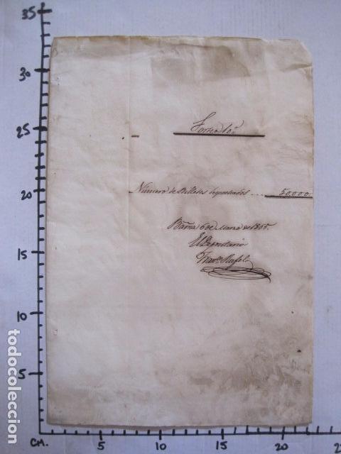 Lotería Nacional: LOTERIA SORTEO - BARCELONA - AÑO 1865 - ACTA -VER FOTOS-(V-11.779) - Foto 7 - 91136485