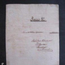 Lotería Nacional: LOTERIA SORTEO - BARCELONA - AÑO 1865 - ACTA -VER FOTOS-(V-11.780). Lote 91136705