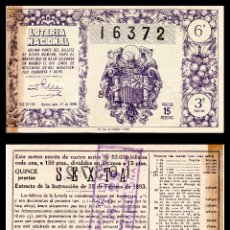 Lotería Nacional: LOTERIA NACIONAL, SORTEO 31/1948.. Lote 91273385