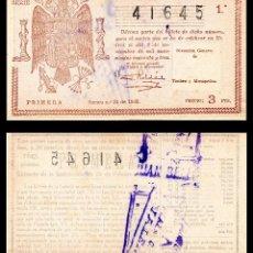 Lotería Nacional: LOTERIA NACIONAL, SORTEO 31/1943.. Lote 91281810