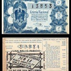 Lotería Nacional: LOTERIA NACIONAL, SORTEO 6/1955.. Lote 91557520