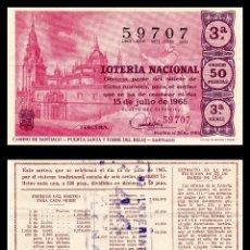 Lotería Nacional: LOTERIA NACIONAL, SORTEO 20/1965.. Lote 91746930