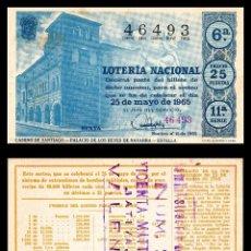 Lotería Nacional: LOTERIA NACIONAL, SORTEO 15/1965.. Lote 91748330