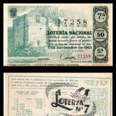 Lotería Nacional: LOTERIA NACIONAL, SORTEO 31/1965.. Lote 91754420