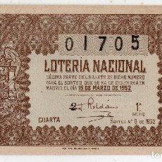 Lotería Nacional: DÉCIMO. SORTEO Nº: 8 DE 1952.. Lote 92240255