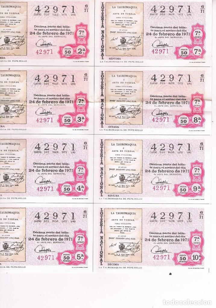 Lotería Nacional: 8 DECIMOS TEMA TAUROMAQUIA LOTERIA NACIONAL - Foto 2 - 92299655
