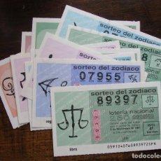 Lotería Nacional: LOTERIA ZODIACO LOS 12 SIGNOS DECIMOS DE 1991, 1992 Y 1993. VER FOTOS. Lote 93563800