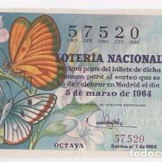 Lotería Nacional: LOTERÍA NACIONAL 1964 ( SORTEO: 7 ). Lote 95949231