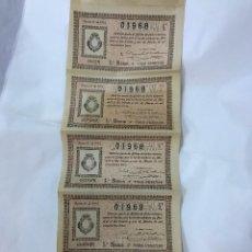 Lotería Nacional: LOTERIA NACIONAL. 5 DECIMOS DEL SORTEO 8º DE 31 MARZO 1913, DE 6ª A 10ª SERIE, 3PTAS, ADM. CORDOBA. Lote 96540775
