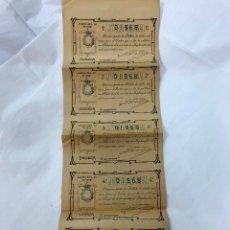 Lotería Nacional: LOTERIA NACIONAL. 5 DECIMOS DEL SORTEO 25 DE 25 SEP. 1905, DE 1ª A 5ª SERIE, 5PTAS, ADM. CORDOBA. Lote 97275919