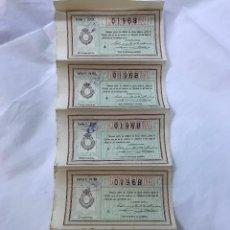 Lotería Nacional: LOTERIA NACIONAL. 5 DECIMOS DEL SORTEO 9 DE 10 ABRIL 1911, DE 1ª A 5ª SERIE, 25PTAS, ADM. CORDOBA. Lote 97286723