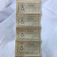 Lotería Nacional: LOTERIA NACIONAL. 5 DECIMOS DEL SORTEO 32 DE 30 NOVIEMB 1910, DE 1ª A 5ª SERIE, 3PTAS, ADM. CORDOBA. Lote 97290675