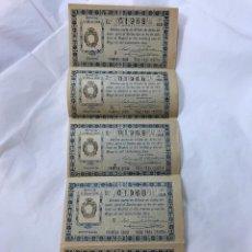 Lotería Nacional: LOTERIA NACIONAL. 5 DECIMOS DEL SORTEO 14 DE 31 MAYO 1912, DE 6ª A 10ª SERIE, 3PTAS, ADM. CORDOBA. Lote 97291639