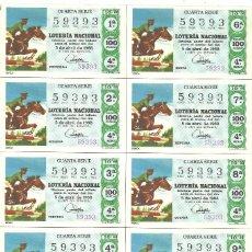 Lotería Nacional: BILLETE LOTERÍA NACIONAL - SORTEO 10 - 1968. Lote 97873047