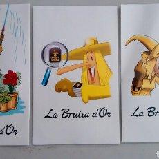 Lotería Nacional: LA BRUJA DE ORO, LA BRUIXA D'OR, 3 SOBRES DISTINTOS PARA DÉCIMOS DE LOTERÍA. Lote 98159932