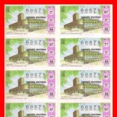 Lotería Nacional: PLIEGO DE 10 DECIMOS AÑO 1973 SORTEO Nº 38 LOTERIA DEL SABADO . Lote 98541595
