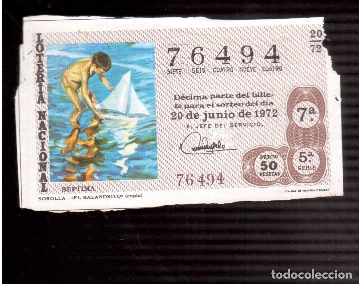 LOTERIA ANTIGUA LA QUE VES NUMERO 228 (Coleccionismo - Lotería Nacional)