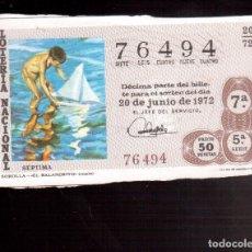 Lotería Nacional: LOTERIA ANTIGUA LA QUE VES NUMERO 228. Lote 98760811