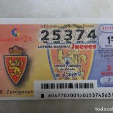 Lotería Nacional: DECIMO LOTERIA REAL ZARAGOZA.. Lote 98786699
