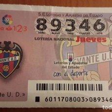 Lotería Nacional: LOTERIA NACIONAL, SORTEO LEVANTE U.D . Lote 98800711