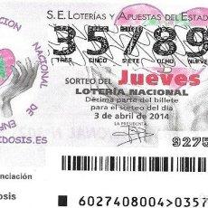 Lotería Nacional: LOTERIA NACIONAL - 25 ENERO 2014 - BIBLIOTECA NACIONAL DE ESPAÑA - SILVESTRE PÉREZ Y MARTINEZ 1792. Lote 99012903