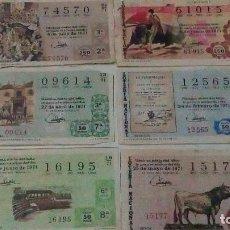Lotería Nacional: 6 DECIMOS DE LOTERÍA NACIONAL DEL AÑO 1971 TEMAS TAURINOS.. Lote 99106287