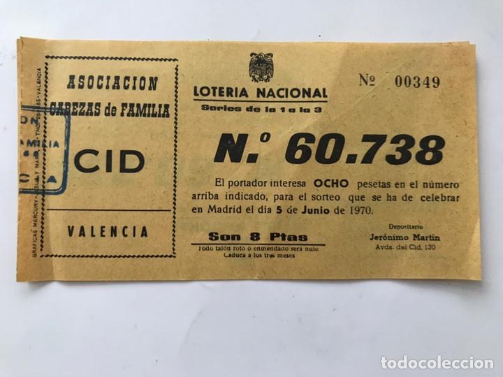 LOTERIA NACIONAL (A.1970) VALENCIA (Coleccionismo - Lotería Nacional)