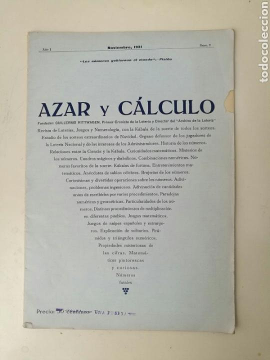 BOLETÍN OFICIAL N° 2 LOTERIA NACIONAL 1931 (Coleccionismo - Lotería Nacional)