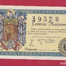 Lotería Nacional: LOTERIA NACIONAL SORTEO 21 DE 1946. Lote 99831067