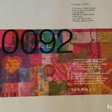 Lotería Nacional: PARTICIPACION DE LOTERIA DE NAVIDAD DE 1992, DE SUMMA BARCELONA 50X40 CM. Lote 100749191