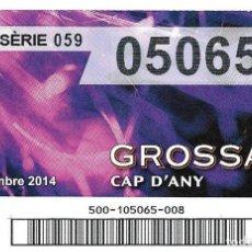 Lotería Nacional: BOLETO DE LOERIA DE CATALUNYA - LA GROSSA - 31 DESEMBRE 2014 - CAP D'ANY. Lote 101450143
