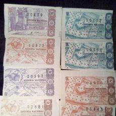 Lotería Nacional: LOTE DE 9 DECIMOS LOTERIA NACIONAL 1963. Lote 101498855