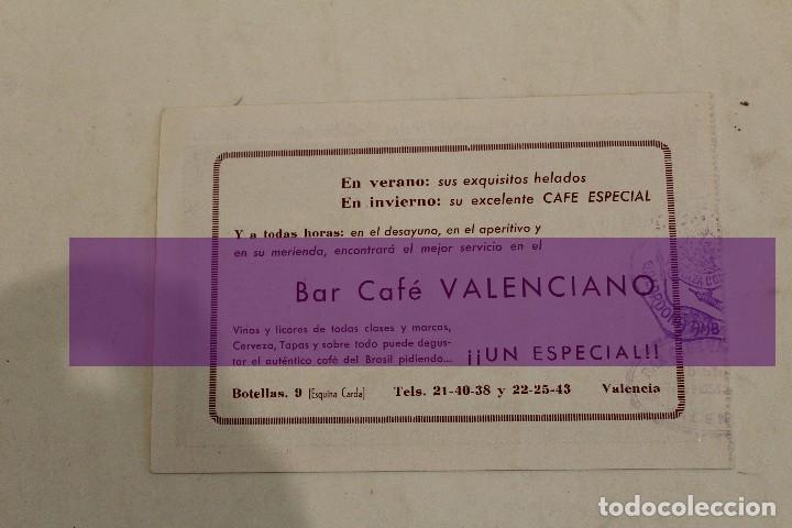 Lotería Nacional: FALLAS DE VALENCIA-PAPELETA LOTERIA NACIONAL FALLA DR. COLLADO 1958 - Foto 2 - 101764447