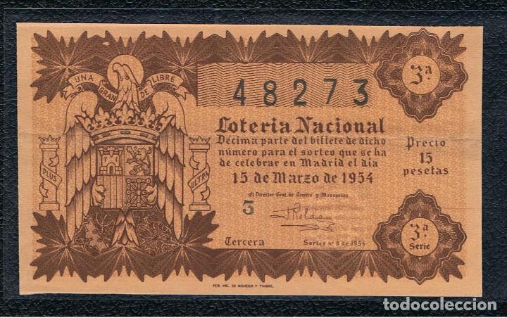 DECIMO LOTERIA NACIONAL AÑO 1954 SORTEO 8 (Coleccionismo - Lotería Nacional)
