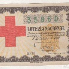 Lotteria Nationale Spagnola: LOTERIA NACIONAL SORTEO 28 DE 1956 CRUZ ROJA. Lote 102702307