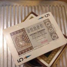 Lotería Nacional: BARAJA NAIPES LOTERÍA 1975. Lote 103992634