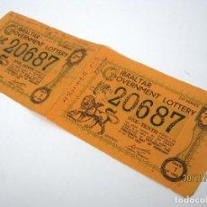 Lotería Nacional: BELLOS DECIMOS LOTERIA GIBRALTAR 1965 - RAROS. Lote 104905487