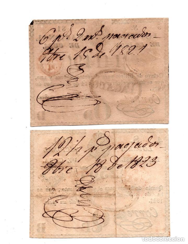 Lotería Nacional: REAL LOTERÍA ISLA DE CUBA. 1PESO.28 MAR 1817 Y LOTERÍA NACIONAL ISLA DE CUBA.4REALES.16 OCT 1823. - Foto 2 - 104917167