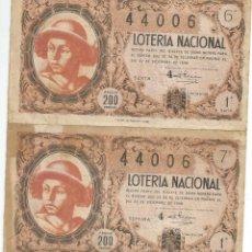 Lotería Nacional: LOTERIA NACIONAL SORTEO 36 1948. Lote 104957919
