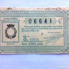 Lotería Nacional: LOTERIA NACIONAL, AÑO 1936 SORTEO 01 ( D - 0022_1 ) SORTEO 1. Lote 105468531