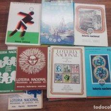 Lotería Nacional: COLECCIÓN DE 75 LIBRITOS DE PROGRAMAS DE SORTEOS DE LOTERÍA DE 1966/84 CASI COMPLETO.. Lote 106004571